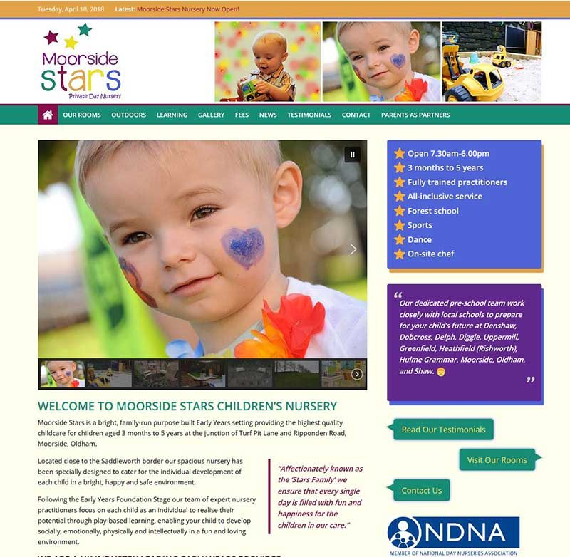 New Website Design for Moorside Stars in Oldham!