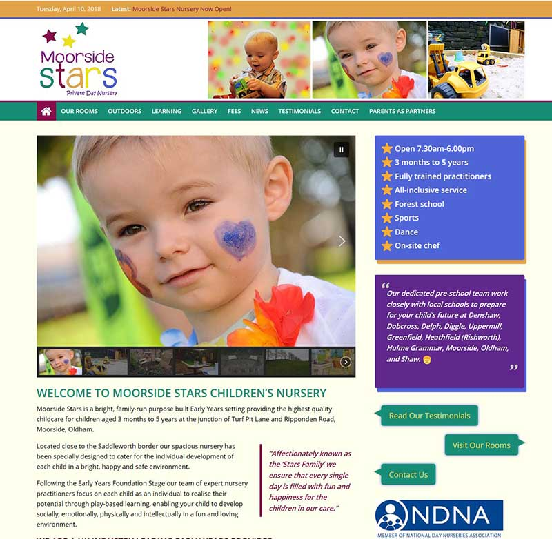 New Website for a New Nursery in Oldham!