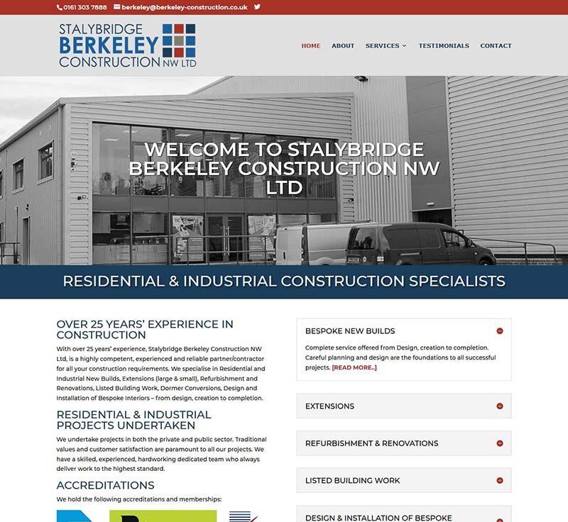 New Logo Design + Website Design for a Stalybridge Construction Company