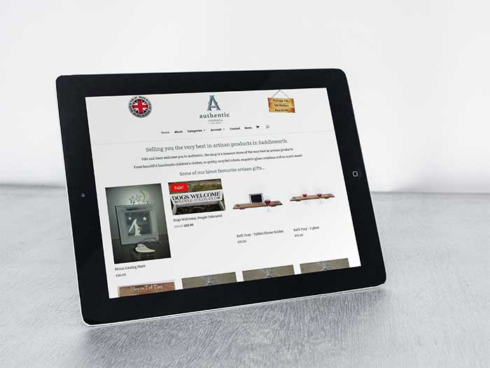 Ecommerce Website - Authentic in Uppermill, Saddleworth, Oldham