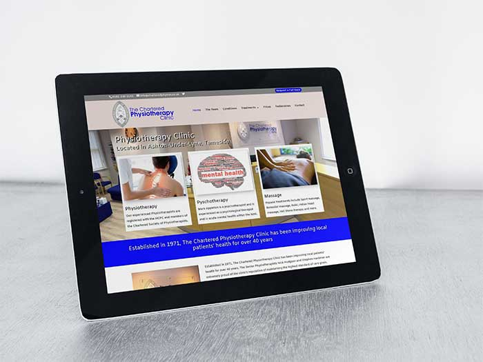 Physiotherapy Website - The Chartered Physiotherapy Clinic in Ashton-Under-Lyne, Tameside