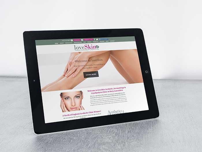 Aesthetic Clinic Website - LoveSkin in Bury