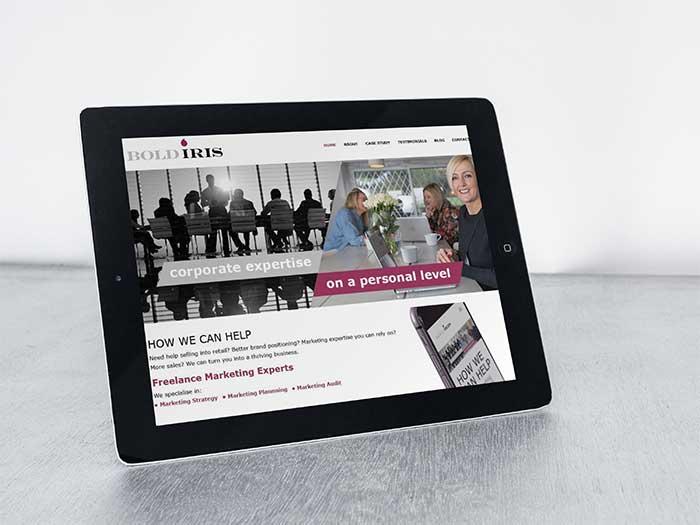 Marketing Website - Bold Iris in Saddleworth