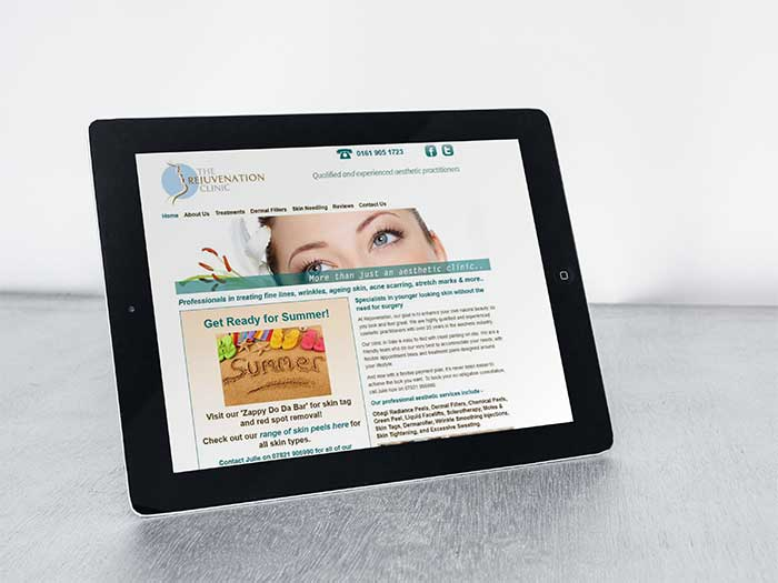 Aesthetic Clinic Website - The Rejuvenation Clinic in Sale