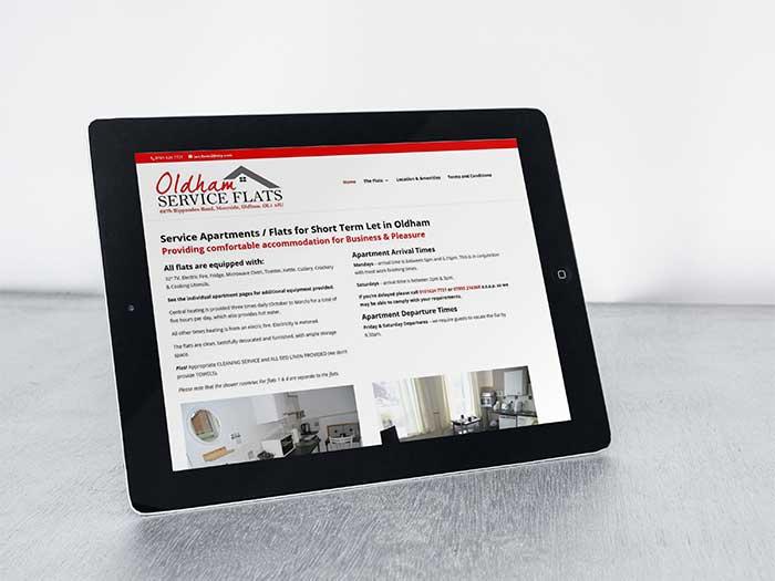 Apartment Rental Website - Oldham Service Flats in Moorside, Oldham