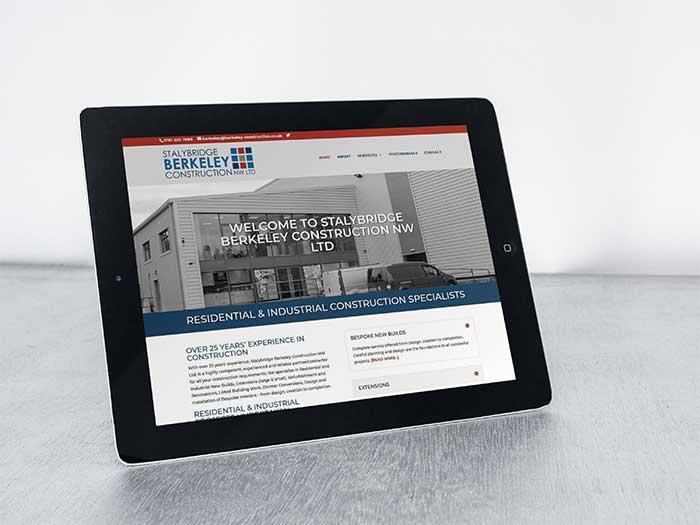 Building Contractor Website - Stalybridge Berkeley Construction in Stalybridge, Tameside