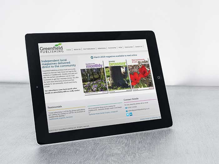 Greenfield Publishing - Web Design Oldham