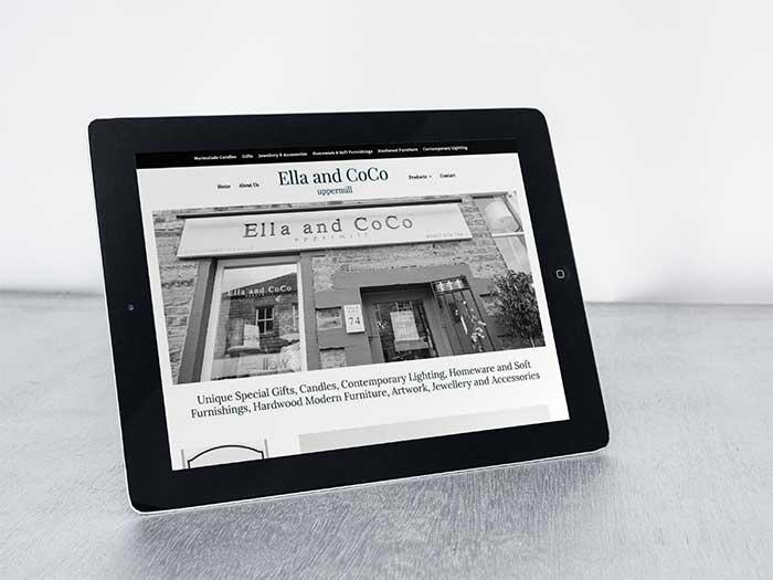 Shop Website - Ella and CoCo in Uppermill, Saddleworth, Oldham