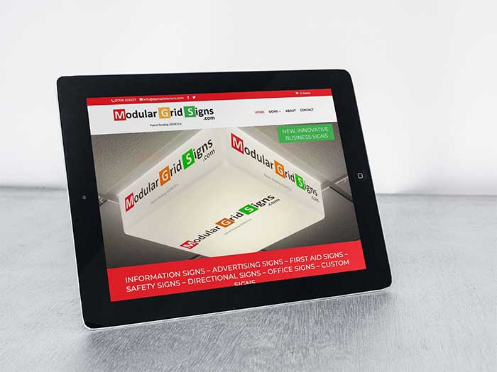 Ecommerce Website - Modular Grid Signs in Rochdale
