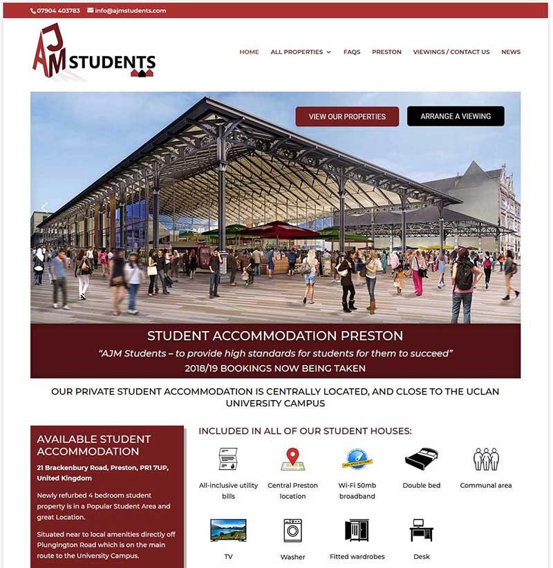Website Design for Student Accommodation