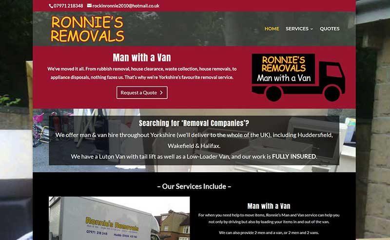 Removal Company Web Design