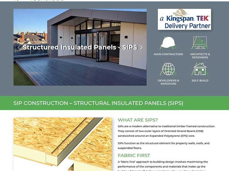 Website Design for a SIP Construction Company