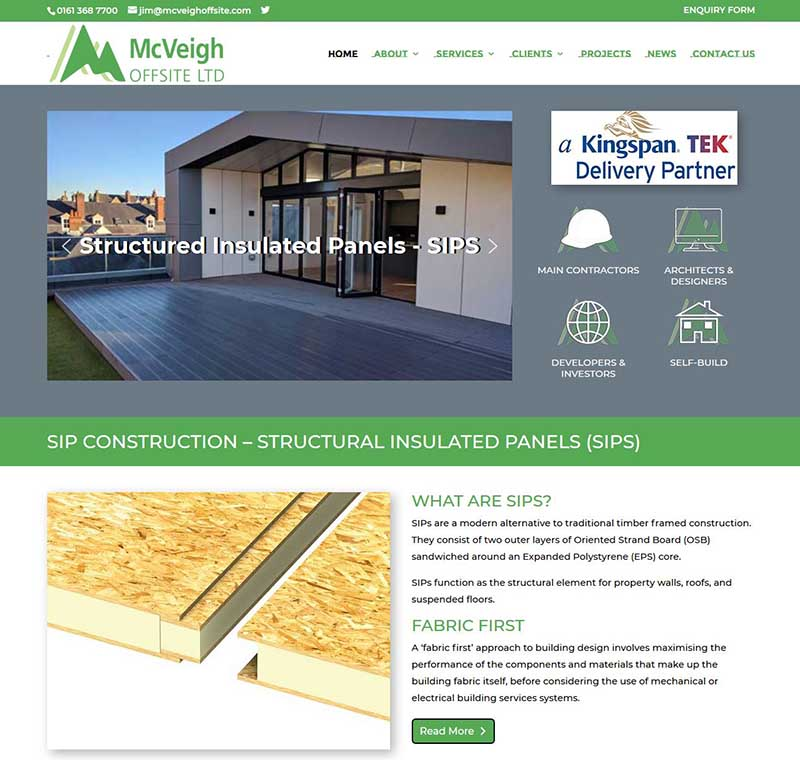 Website Design for a SIP Construction Company