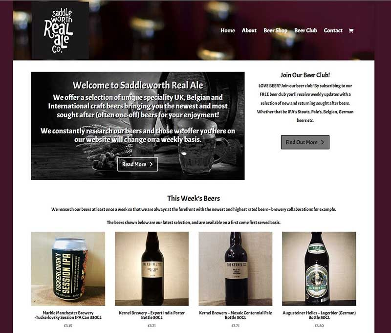 Saddleworth Real Ale is back with a New Online Shop!