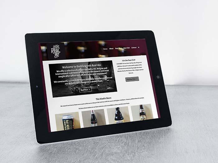 Saddleworth Real Ale - Ecommerce Web Design Oldham