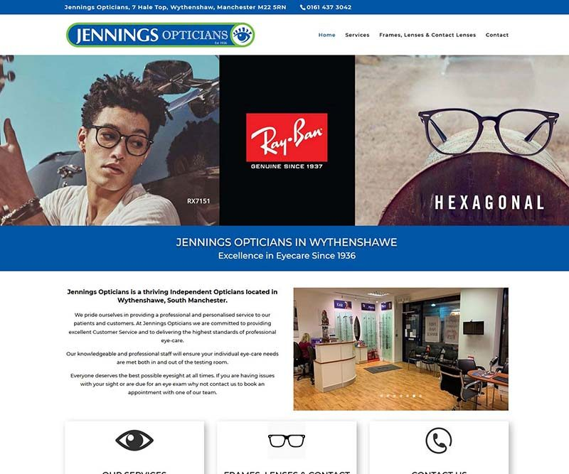 Another Independent Opticians Practice Website Design