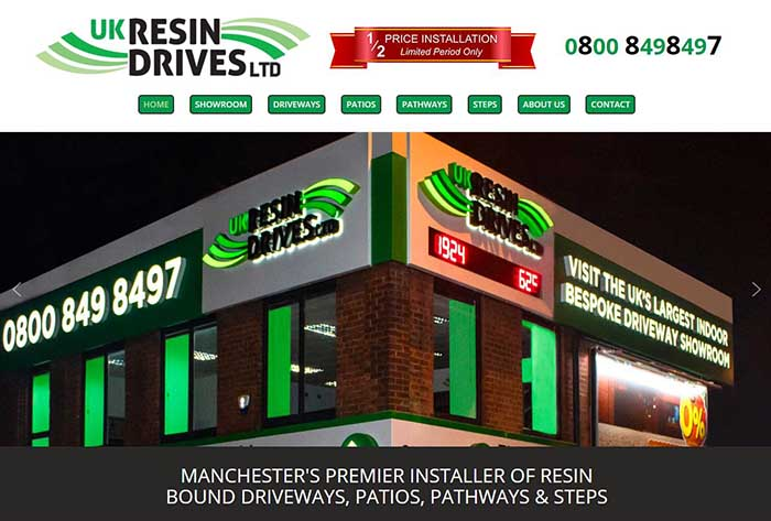 New Resin Driveway Showroom Website Design!