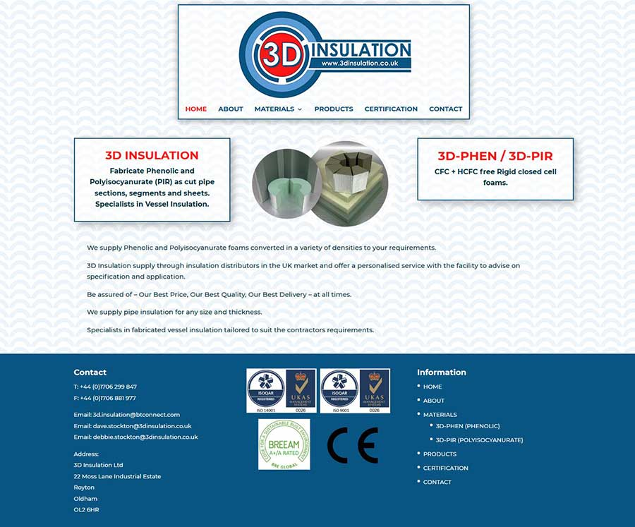 Website Design For An Insulation Company