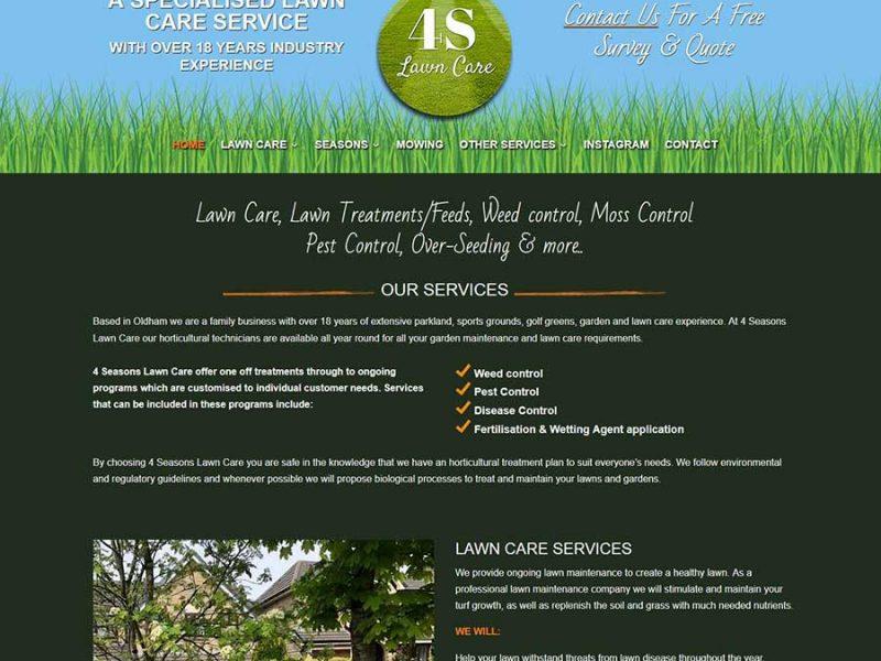 New Web Design For A Lawn Care Company