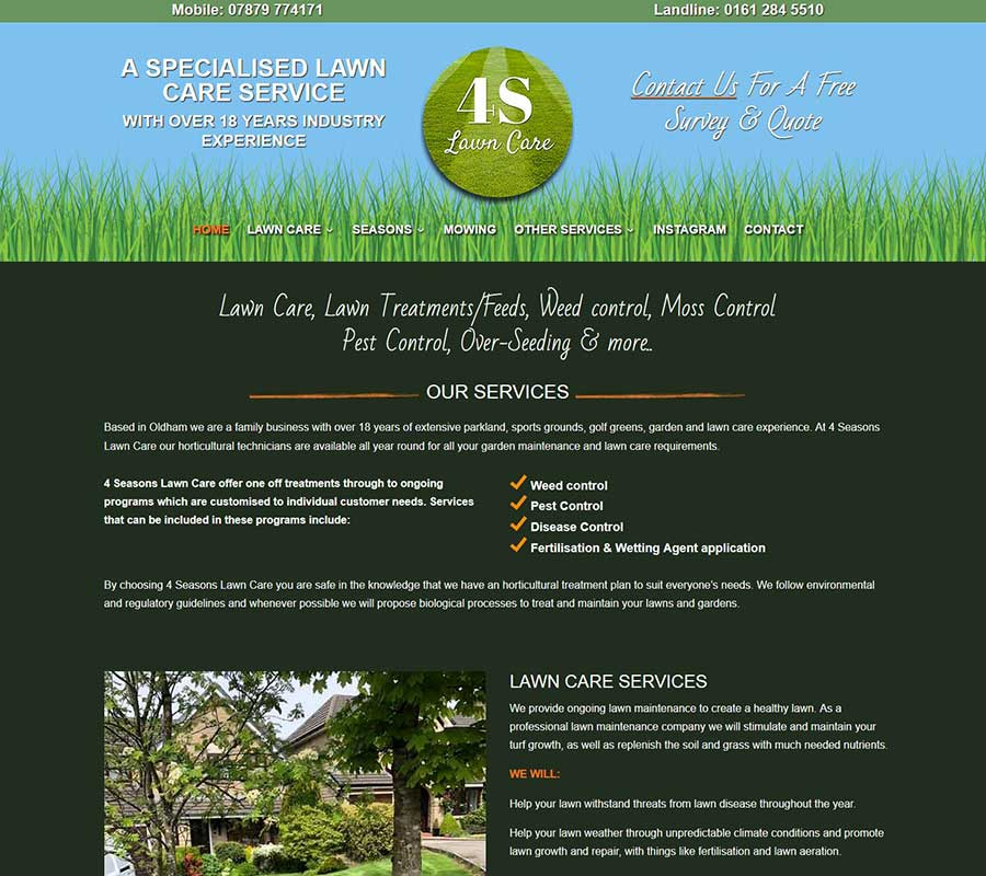 New Web Design For A Lawn Care Company