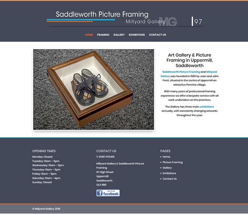 New Website Design For Uppermills Millyard Gallery