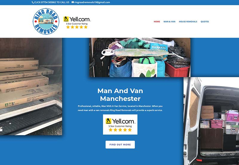 Website Design For A Removal Company in Manchester
