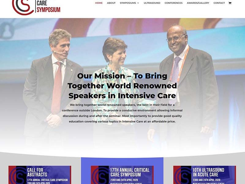 New Website For Manchester's Critical Care Symposium