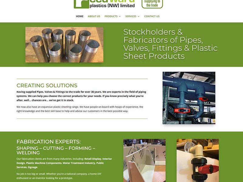 Website Design For A Chadderton Plastic Company