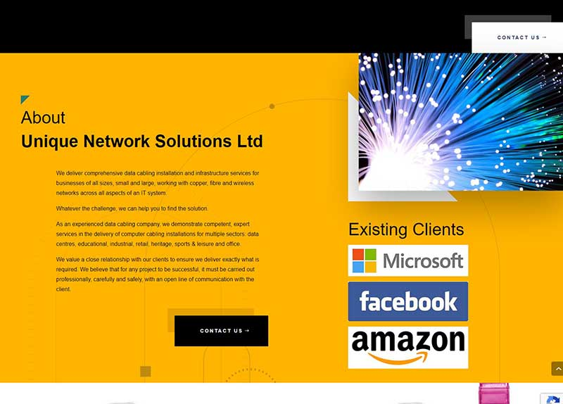 New Website Design For A Network Solution Company