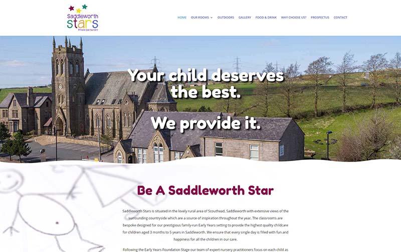 Website Design for a Childcare Nursery